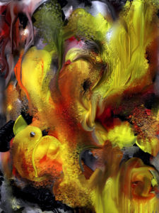 Abstract with Yellow